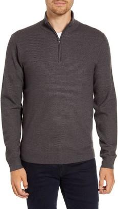Nordstrom Textured Quarter Zip Sweater
