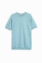 John Smedley Crew Neck Texture T-Shirt