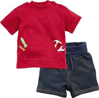 Playshoes Baby Boys' 2-Piece Handyman, T-shirt And Shorts Suit,(Manufacturer Size: 56)