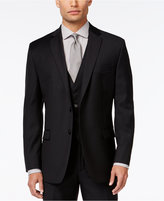 Calvin Klein Black Solid Slim-Fit Jacket