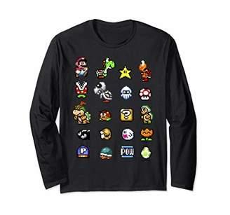 Nintendo Super Mario Friends & Enemies Sprites Long Sleeve T-Shirt