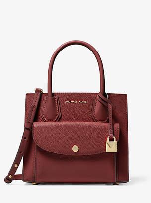 Michael Kors Mercer Medium Pebbled Leather Pocket Tote Bag