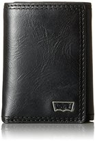 Levi's Men's Trifold Wallet with Levis Batwing Hardware Logo