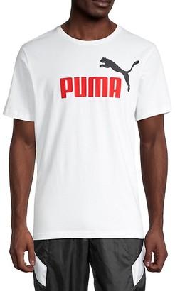 Puma Logo Stretch-Cotton Tee