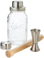 W&P Design The Mason Shaker Barware Set - Brown