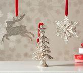Pottery Barn Kids Christmas Glitter Ornaments
