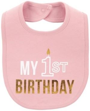 Carter's Baby Girl My 1st Birthday Teething Bib