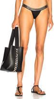 Norma Kamali Studded Banded Bikini Bottom