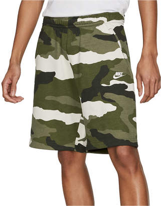 Nike Men Club Fleece Camo Shorts