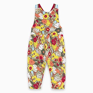 Tuc Tuc Green Printed Jersey Jumpsuit for Girl Tropical Jungle