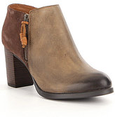 Sperry Dasher Lille Leather and Suede Side Zip Booties