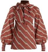 Gucci Roll-neck diagonal-jacquard top