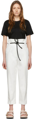 3.1 Phillip Lim White Origami Pleated Trousers