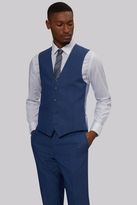 French Connection Slim Fit Faded Blue Waistcoat