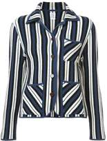 Rosie Assoulin striped intarsia knit blazer