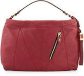 Oryany Connie Leather Hobo Bag, Burgundy