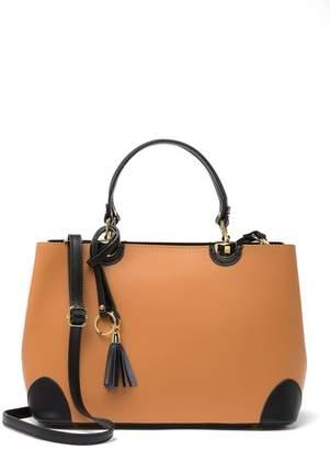 Isabella Collection Rhea Leather Top Handle Shoulder Bag