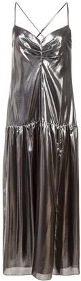 Mason by Michelle Mason Metallic Midi Dress