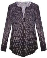 Raquel Allegra Silk-chiffon tie-dye henley top