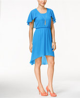 Thalia Sodi Flutter-Sleeve High-Low Dress, Only at Macy's