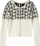 RVCA Junior's What The Fuzz Zip Up Sweater