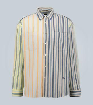 J.W.Anderson Parasol oversized striped cotton shirt