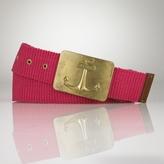 Anchor Plaque Web Belt