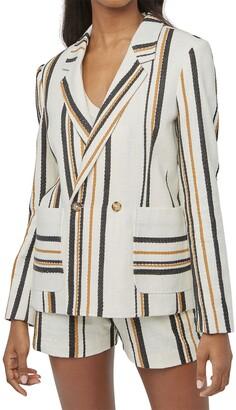 Billy Reid Double Breasted Stripe Jacket