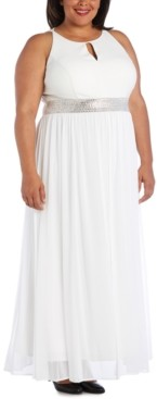 R & M Richards Plus Size Keyhole Gown
