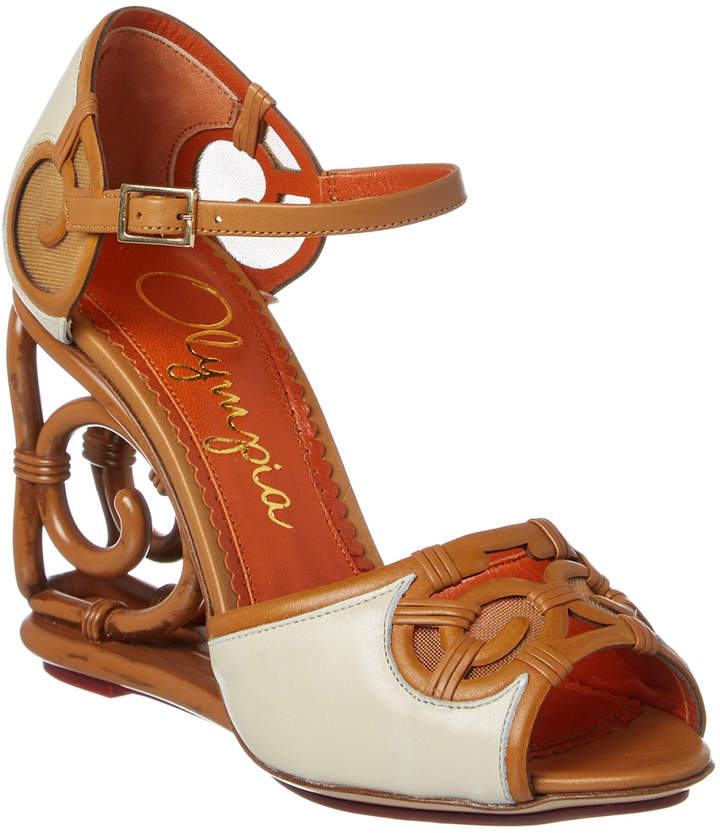 Charlotte Olympia Rattan Leather Wedge
