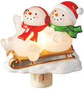 The Holiday Aisle Snowmen on Sleigh Night Light