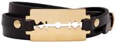 McQ by Alexander McQueen Black Razor Triple Wrap Bracelet