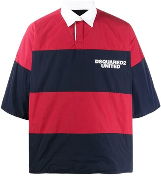 DSQUARED2 Striped Rugby Top