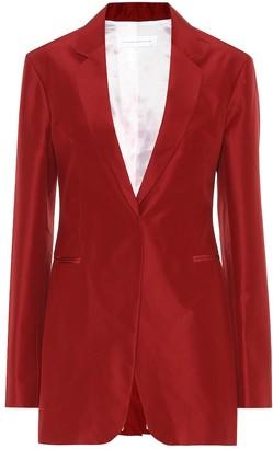 Victoria Beckham Cotton and silk blazer