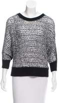 Tess Giberson Contrasted Crew Neck Sweater w/ Tags