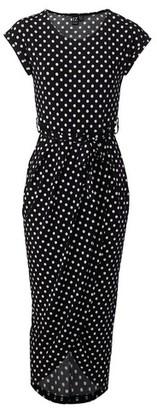 Dorothy Perkins Womens Izabel London Black Wrap Dress, Black