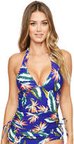 Figleaves Palm Springs Soft Halter Tankini Top