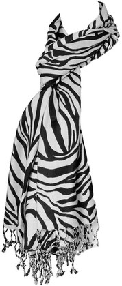 The Olive House® Womens Zebra Safari Animal Scarf Orange