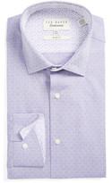 Ted Baker Burrow Slim Fit Geometric Dress Shirt