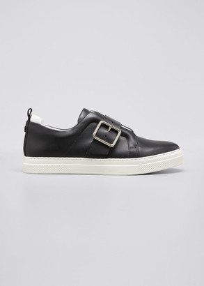 Pierre Hardy Slider Buckle Leather Low-Top Sneakers