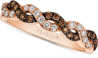 LeVian Le Vian Chocolatier Diamond Braided Band (3/8 ct. t.w.) in 14k Rose Gold