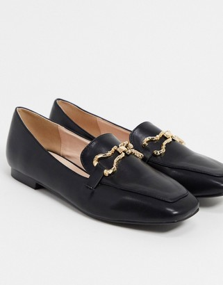 Raid Clareta loafers with gold trim in black