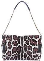 Jimmy Choo Ponyhair Leopard Shoulder Bag