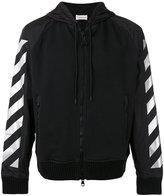 Moncler striped sleeves zipped hoodie - men - Cotton/Polyamide - S