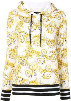 Versace Jeans Couture Logo Baroque print hoodie