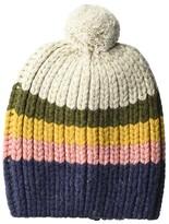Madewell Striped Pom-Pom Beanie (Heather Sand) Caps