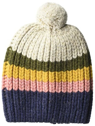 Madewell Striped Pom-Pom Beanie (Heather Sand) Caps