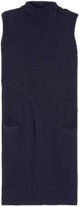 Derek Lam Asymmetric Wrap-effect Cashmere Turtleneck Tunic