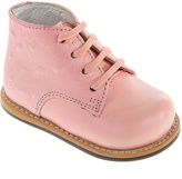 Joseph Allen Pink Ostrich Lace-Up Leather Walking Bootie