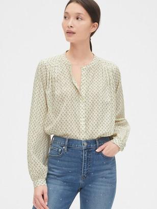 Gap Textured Stripe Pleated Shirt